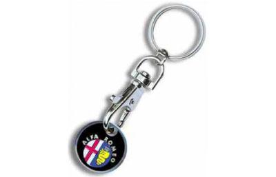 Porte clés publicitaires personnalisés porte jetons métal