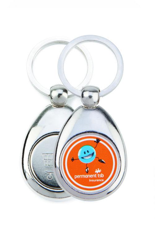 Porte clé métal galet
